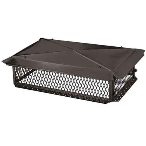 10'' x 14'' Black Galvanized Multi-Flue Chimney Cap
