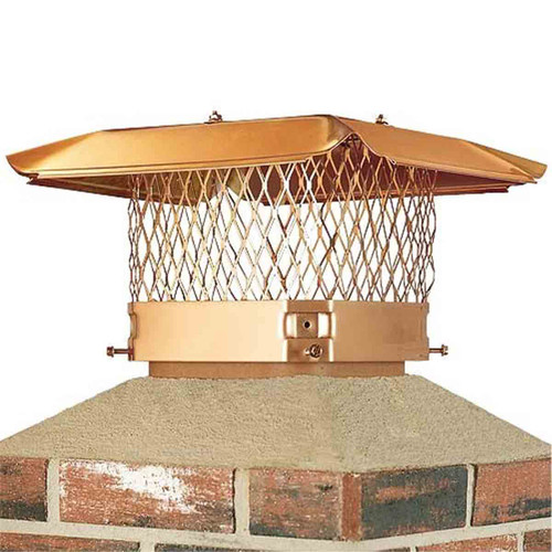 9'' x 18'' Copper Single Flue Chimney Cap