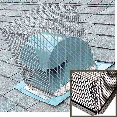 7'' x 7'' Black Stainless Steel Animal Control Screen