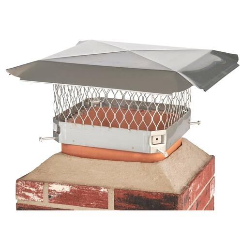 11'' x 11'' Stainless Steel Single Flue Chimney Cap