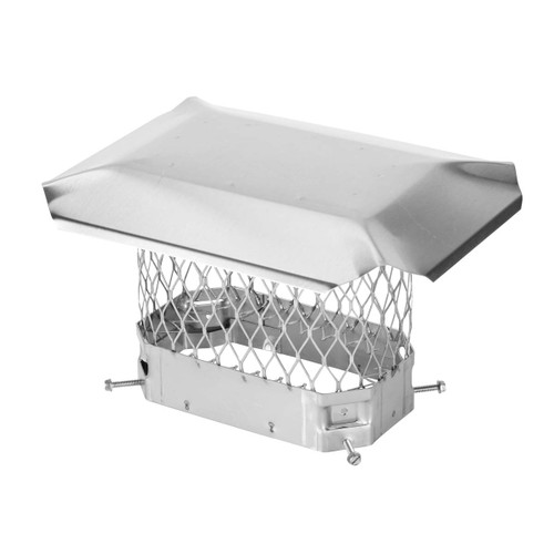 5'' x 9'' Stainless Steel Single Flue Chimney Cap