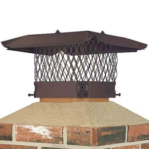 9'' x 13'' Black Stainless Steel Single Flue Chimney Cap