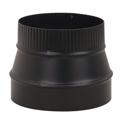 7'' to 6'' 24-Ga. Snap-Lock Black Reducer