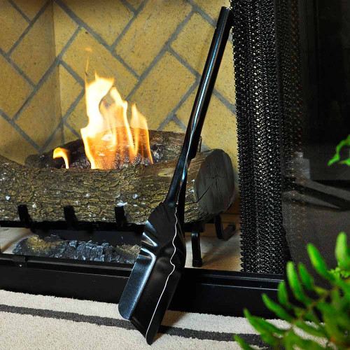 Black Fireplace Ash Shovel