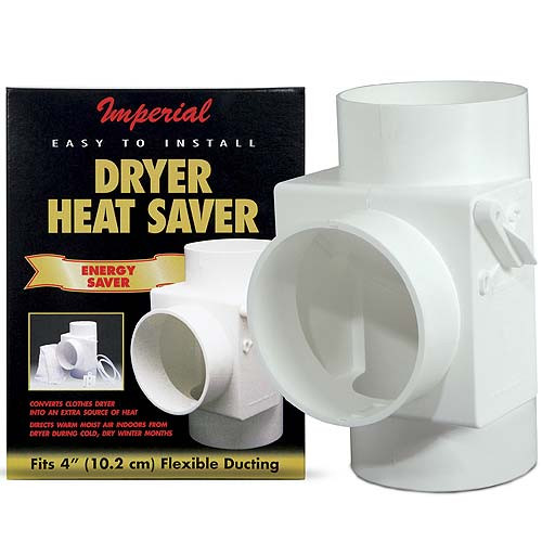 4'' White Dryer Vent Heat Saver