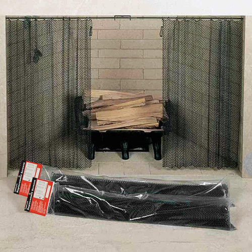 Replacement Screen Panels Black 17'' High x 48'' Wide