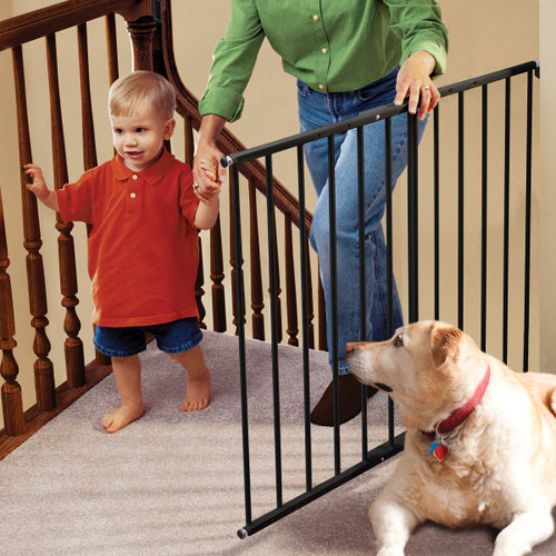 KidCo Safeway Top of Stair Baby Safety Gate - Black