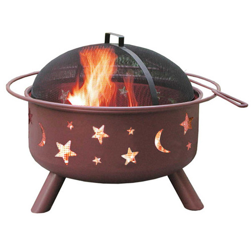 Big Sky Fire Pit - Stars & Moons - Georgia Clay Color