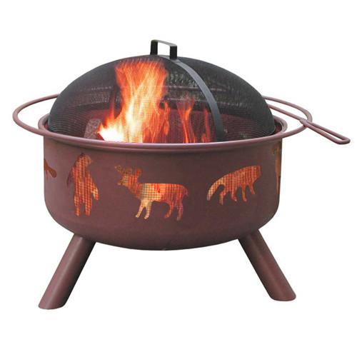 Big Sky Fire Pit - Wildlife - Georgia Clay Color