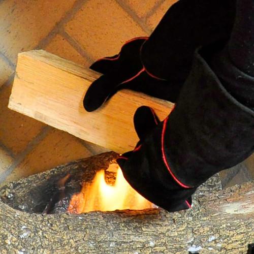 Fireplace  Gloves - 13 1/2'' - Black