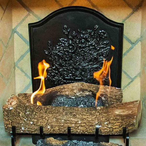 Bouquet Fireback reflects Heat from the Fire Forward into the Room