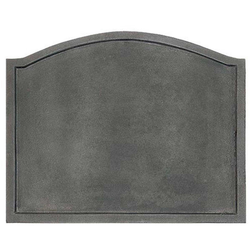 Plain Cast Iron Fireback - 22.5'' W x 17