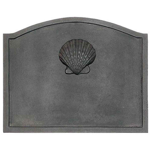 Shell Cast Iron Fireback - 22.5'' W x 17.75'' H