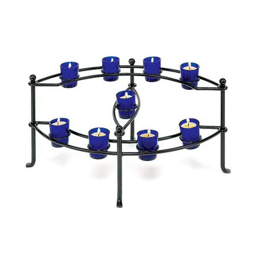 Cobalt Votive Fireplace Candelabra