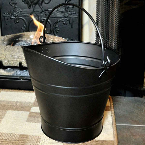 14'' Coal Hod/Pellet Bucket - Black