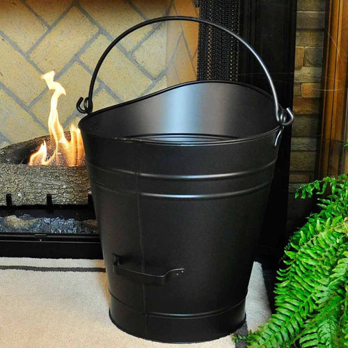 18'' Coal Hod/Pellet Bucket - Black