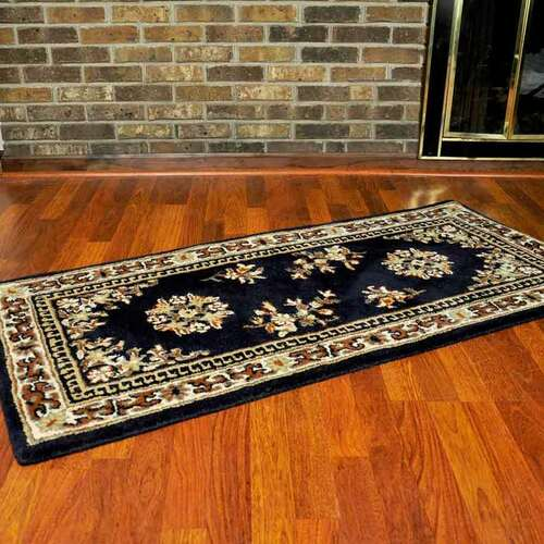 56'' Rectangle Blue Oriental Fireplace Rug