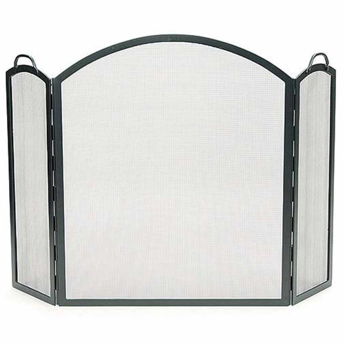 Arched Three-Part Folding Fireplace Screen