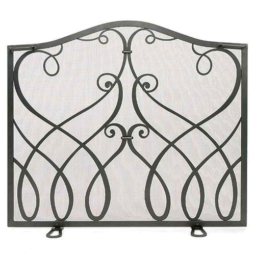 Cypher Collection Small Flat Fireplace Screen-Graphite