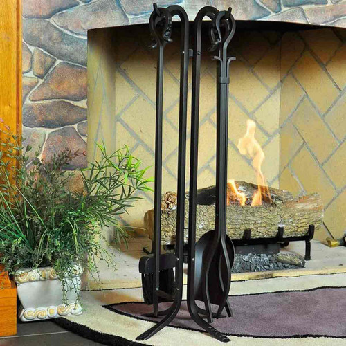 Pilgrim 5 Piece Forged Hearth Fireplace Toolset
