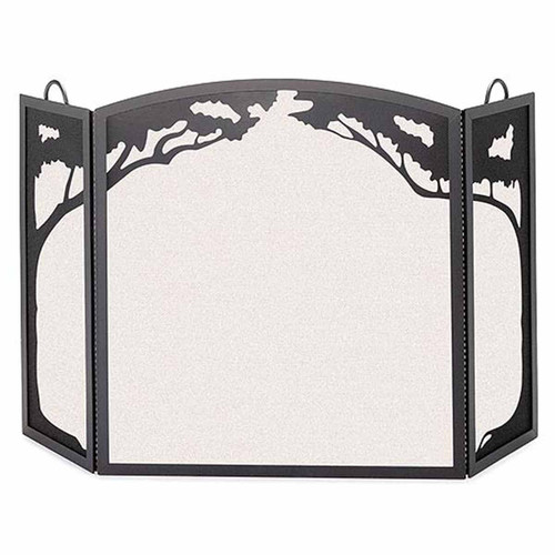 Pilgrim Grand Oak Three Panel Screen - Black