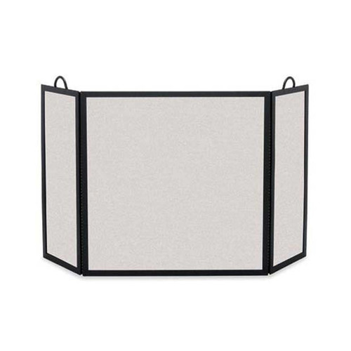 Pilgrim Rectangular Three Panel Fireplace Screen - Matte Black 46'' Wide