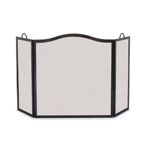 Pilgrim Camelback Arch Three Panel Fireplace Screen - Matte Black 46'' Wide