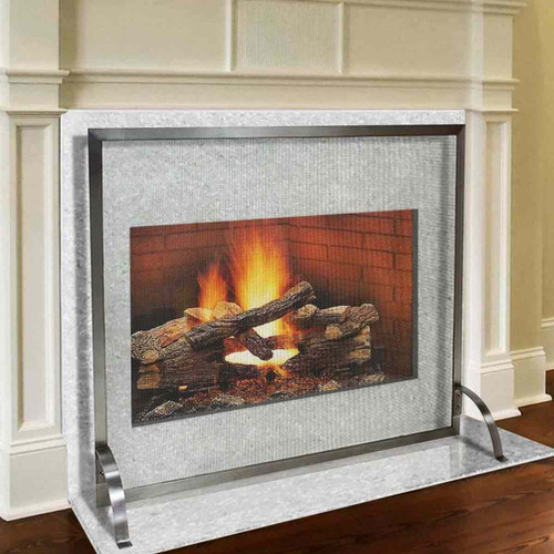 Pilgrim 39'' x 31'' Stainless Steel Newport Fireplace Screen