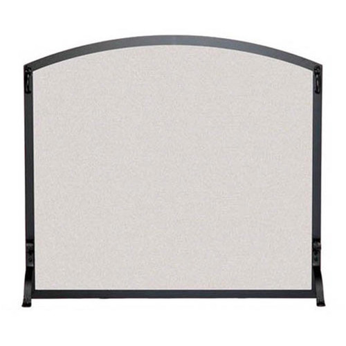 Pilgrim FGN Arched Fireplace Screen 44'' x 34 1/4'' - Matte Black