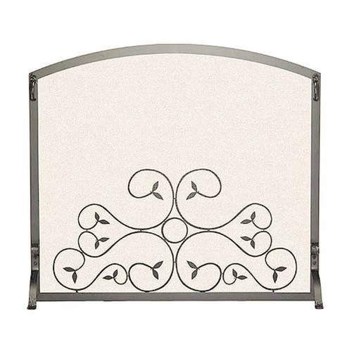 Pilgrim Applique Scroll Fireplace Screen - Vintage Iron 44'' x 34.25''