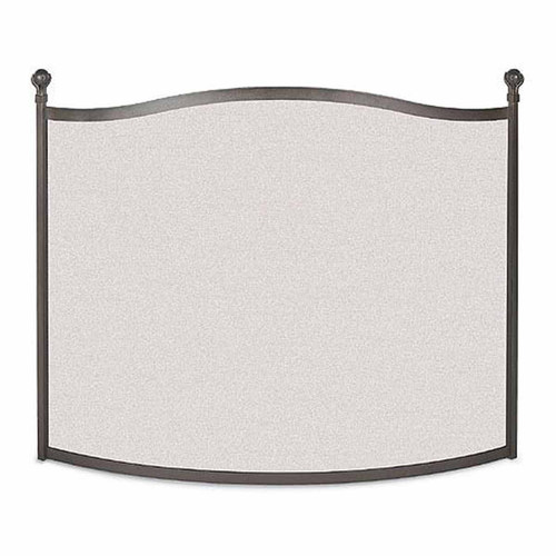 Pilgrim Ball & Claw Bowed Fireplace Screen - Burnished Black