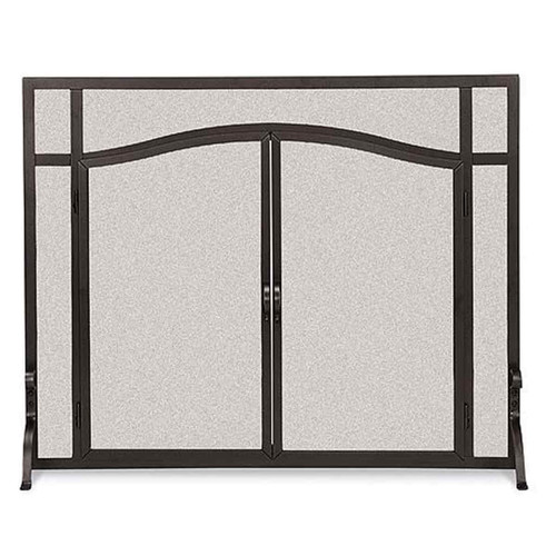 Pilgrim Forged Iron Arched Door Screen - VI