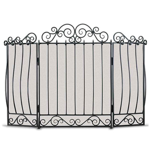 Pilgrim Villa Three Panel Fireplace Screen - Black