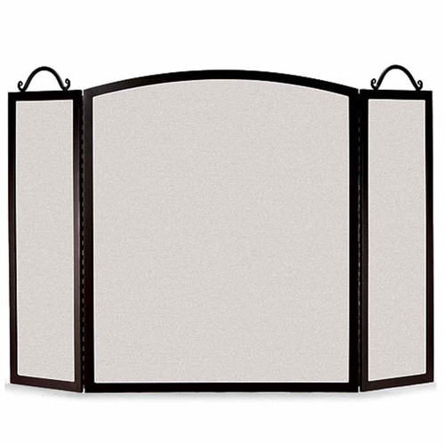 Pilgrim Large Traditional Arch Three Panel Fireplace Screen