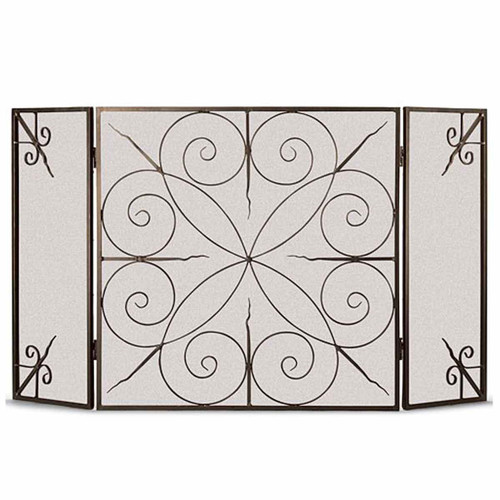 Pilgrim Elements Three Panel Fireplace Screen