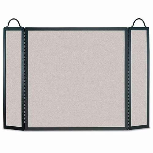 Pilgrim Traditional Straight-Top Three Panel Fireplace Screen