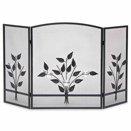 Pilgrim Three Tea Light Tri Panel Fireplace Screen