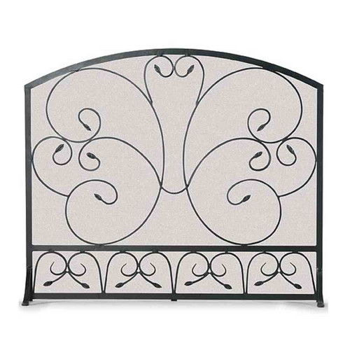 Pilgrim Country Scroll Fireplace Screen - Black