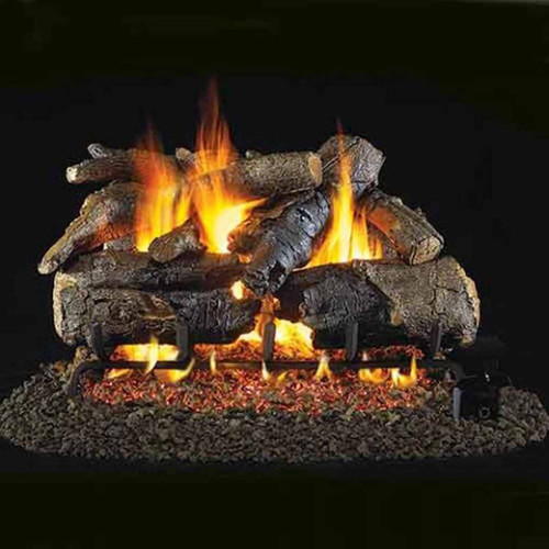 30'' Peterson Real Fyre Vented Charred American Oak Gas Logs - Logs Only