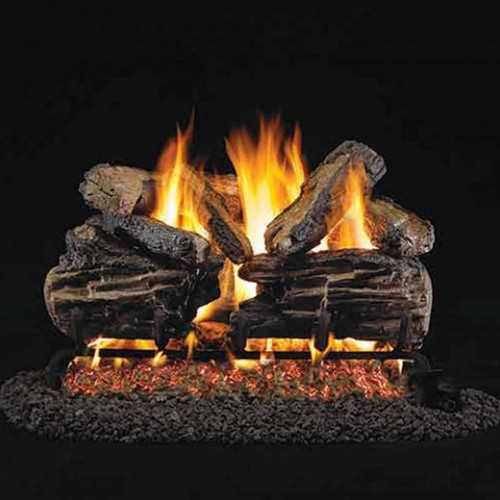 24'' Peterson Real Fyre Vented Charred Split Oak Gas Logs - Logs Only