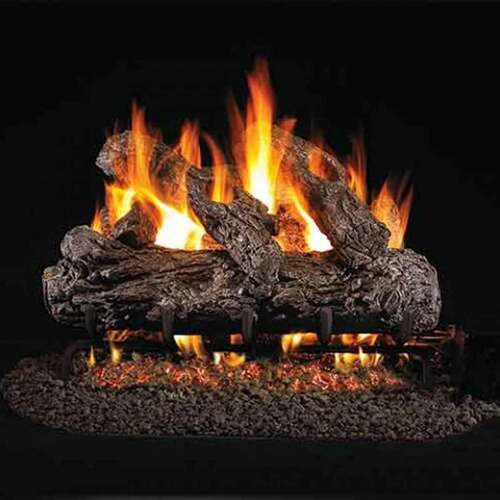24'' Peterson Real Fyre Vented Rustic Oak Gas Logs - Logs Only