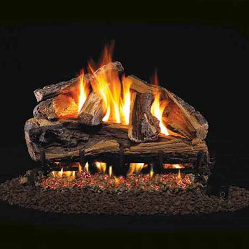18'' Peterson Real Fyre Vented Rugged Split Oak Gas Logs - Logs Only