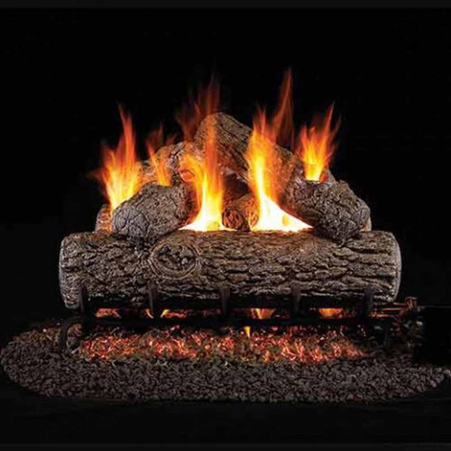24'' Peterson Real Fyre Vented Golden Oak Gas Logs - Logs Only