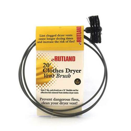 4'' Pellet Stove/Dryer Vent Brush - 20' Handle
