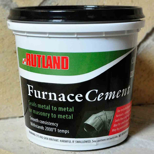 Black Furnace Cement - 1 Qt.