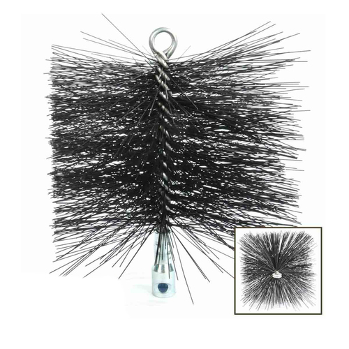 12'' x 12'' Square Heavy-Duty (Wire) Chimney Brush with Torque Lock Connector