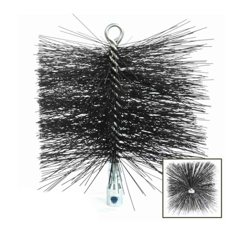 6'' x 6'' Square Heavy-Duty (Wire) Chimney Brush with Torque Lock Connector