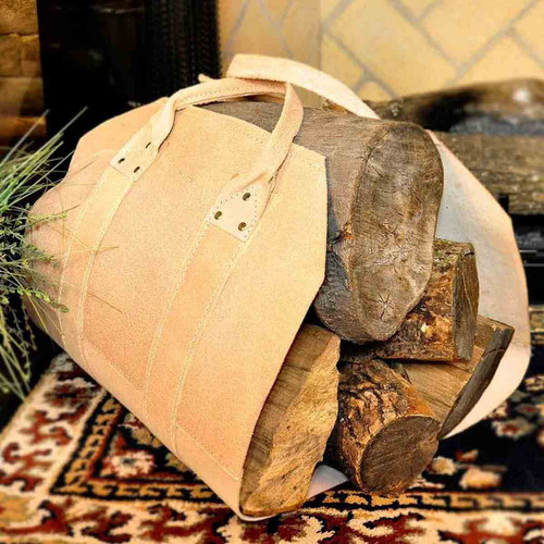 Leather Firewood Carrier