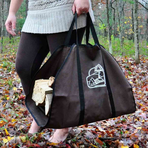 Brown Firewood Carrier with Black Trim