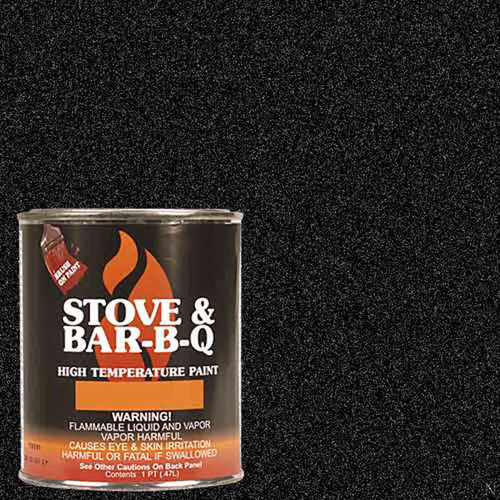 High Temperature Paint - Metallic Black 16 oz